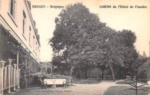 Jardin de l'Hotel de Flandre Bruges Belgium Unused