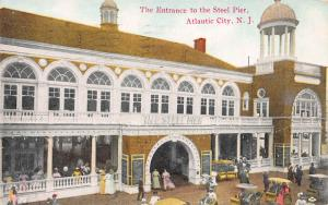 Entrance to the Steel Pier, Atlantic City, N.J., Early Postcard, Used in 1911