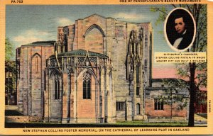 Pennsylvania Pittsburgh Stephen Collins Foster Memorial 1949 Curteich