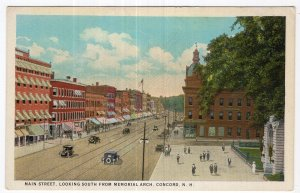 Concord, N.H., Main Street, Looking South From Memorial Arch