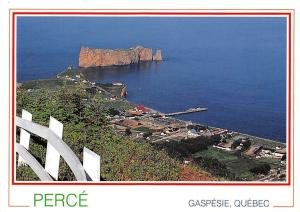 Canada Perce Gaspesie Quebec, The Rock Partial view Mont Saint Anne