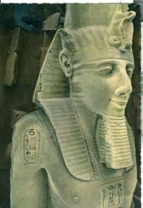 Egypt, Memphis Limestone Statue of Ramses II used real photo