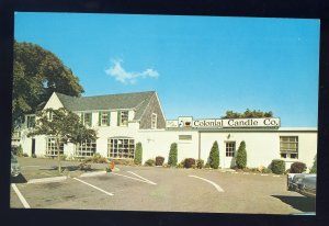 Hyannis, Massachusetts/MA Postcard, Colonial Candle Company, Cape Cod