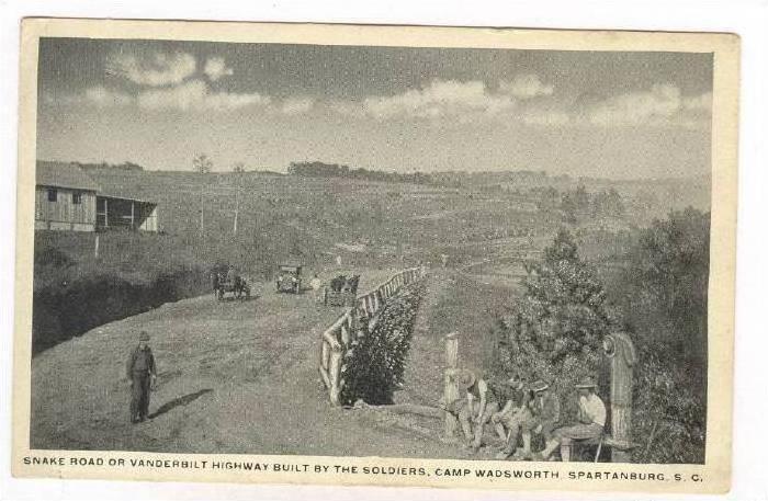 Snake Road, Camp Wadsworth, Spartanburg , South Carolina, 1910s