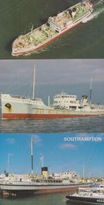 SS Shieldhall Ship 3x Postcard