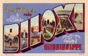 1949 GREETINGS FROM BILOXI MISSISSIPPI