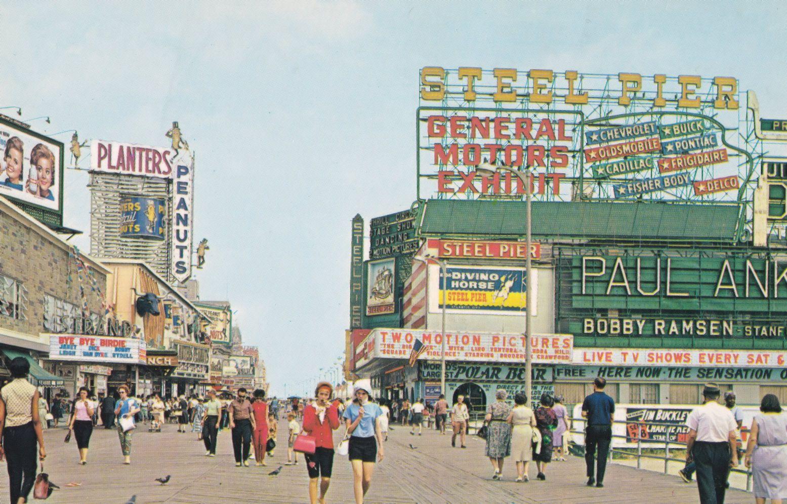 Paul Anka Live at Broadwalk Steel Pier ****** Van ****** USA Postcard /  HipPostcard