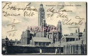 Postcard Old London Westminster Catholic Cathedral