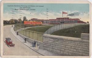 Illinois Ill Postcard 1919 WAUKEGAN Cyclone Fence Company Advertisement Factory