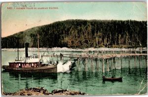 Salmon Traps in Alaskan Waters Early 1900s Vintage Postcard N06