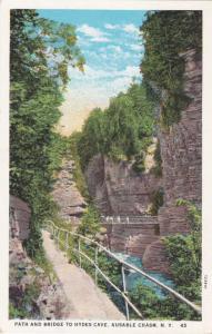 Path and Bridge to Hydes Cave - Ausable Chasm, Adirondacks, New York WB
