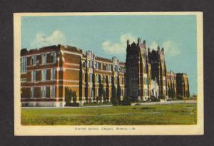 AL Normal School CALGARY ALBERTA Canada Postcard 1944