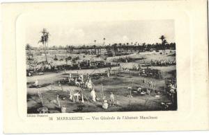 CPA Maroc Marrakech Vue Generale de L'Abattoir Musulman (25086)