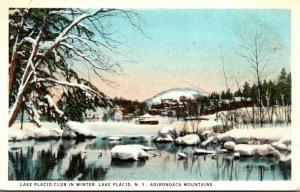 New York Adirondacks Lake Placid Club In Winter 1925