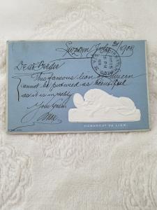 Antique Postcard Switzerland Luzern Monument du Lion Dated 1900. Used. Beautiful