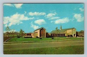 Bryan OH, First Presbyterian Church, Chrome Ohio Postcard