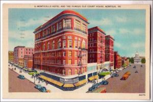 Monticello Hotel & old Court House, Norfolk VA