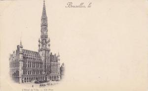 L'Hotel De Ville, Bruxelles, Belgium, 1900-1910s