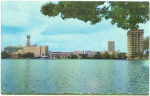 Lake Eola and Orlando Skyline, Florida, FL, Chrome
