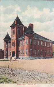 PITCAIRN , Pennsylvania, PU-1908 ; Public School