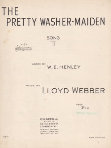 The Pretty Washer Maiden Song Lloyd Webber 1940s Sheet Music
