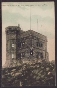 Cabot Tower Signal Tower,St John's Newfoundland Postcard