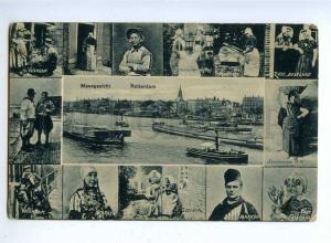192440 HOLLAND ROTTERDAM type ships Vintage embossed postcard