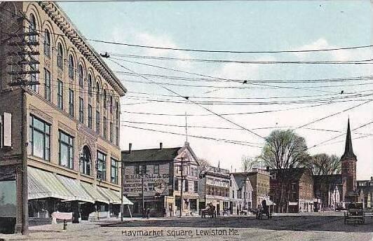 Maine Lewiston Haymarket Square