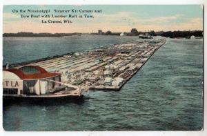Mississippi River Steamer Kit Carson & Bow Boat, La Crosse