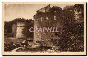 Old Postcard Nantes Tours, Moat du Chateau