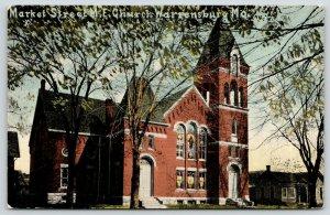 Warrensburg Missouri~Market Street ME Church~Stained Glass~Bell Tower~c1910