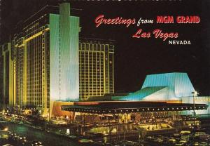 Nevada Las Vegas Greetings From MGM Grand Hotel