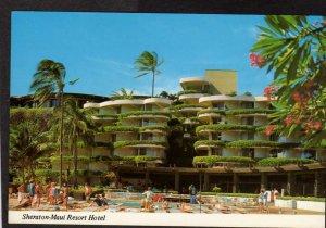 HI Sheraton Island of Maui Resort Hotel Kaanapali Beach Hawaii Postcard PC