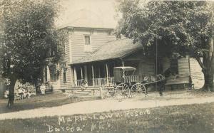 Bayoda Michigan 1908 Maple Law Resort RPPC real photo postcard 11149