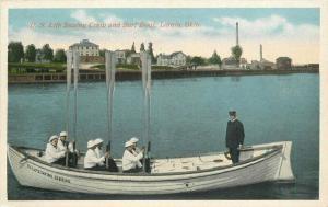 C-1915 Lorain Ohio US Life Saving Crew Surf Boat Postcard 5743