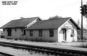 Garland Texas 1974 Missouri Kansas Texas train depot real photo pc Z26236