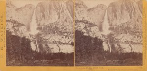 SV : YOSEMITE , California , 1868 ; Yosemite Falls