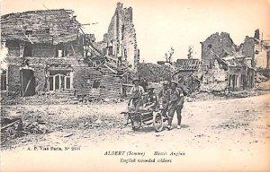 English Wounded Soldiers Albert Belgium Unused