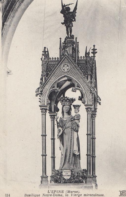 L'Epine Marne Basilique Notre Dame Old French Religious Postcard