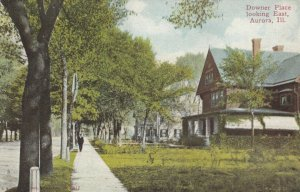 AURORA , Illinois , 1900-10s ; Downer Place looking East