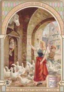 Liebig Vintage Trade Card S783 The Goose Girel No 4  La Gardeuse D'Oies