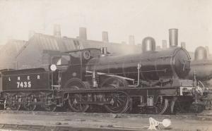 LNER 7435 Engine Train Vintage Railway Real Photo Postcard