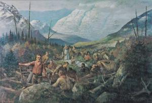 Overland Expedition, Gold Seekers From Ft. Garry Traverse the Overland Route,...