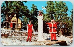 North Pole Pikes Peak Colorado~Santa Himself~Elf~Christmas~House~Workshop~1950s