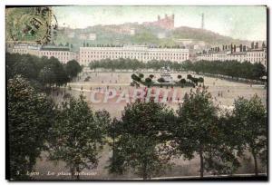 Old Postcard Lyon Place Bellecour