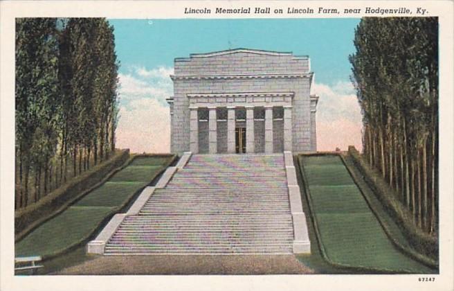 Kentucky Hodgenville Lincoln Memorial Hall On Lincoln Farm Curteich