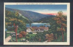 Virginia postcard Sherando Lake Camp Waynesboro