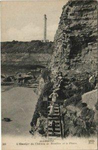 CPA Biarritz Escalier du Chateau de Noailles et le Phare FRANCE (1126714)