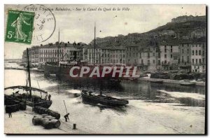 Sete - This - Bathing Station - On the canal to City Pier - Old Postcard
