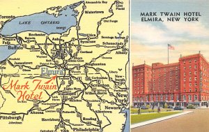 Maps Mark Twain Hotel Elmira, New York, USA Unused